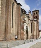 Catedral de Asti, lado sur Foto de archivo