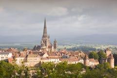 Catedral de Autun Imagenes de archivo