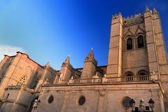 Catedral de Avila na Espanha fotografia de stock