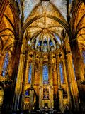 Catedral de Barcelona fotografia de stock