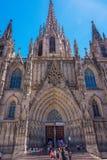 Catedral de Barcelona Fotografia de Stock Royalty Free