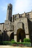 Catedral de Barcelona, ciudad vieja Barcelona, España Imagenes de archivo