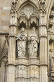 Catedral de Barcelona Stock Images