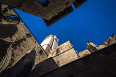 Catedral de Barcelona ou catedral de Santa Eulalia Barcelona fotografia de stock