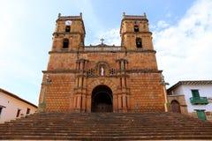 Catedral de Barichara Santander en Colombia, Suramérica fotografía de archivo libre de regalías