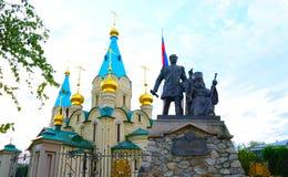 Catedral de Blagoveschensk, región de Amur Foto de archivo