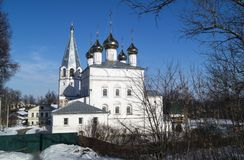 Catedral de Blagoveschenskiy do convento na cidade Vyazniki, Russi Fotografia de Stock