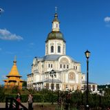 Catedral de Blagoveshchensky imagens de stock royalty free