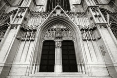 Catedral de Bruselas Imágenes de archivo libres de regalías