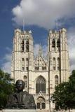 Catedral de Bruselas fotografía de archivo libre de regalías