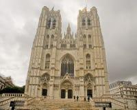 Catedral de Bruxelas de St Michael e de St Gudula Imagem de Stock