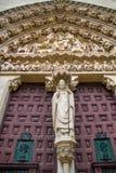 Catedral de Burgos de la entrada Fotos de archivo libres de regalías