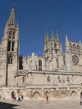 Catedral de Burgos ( Spain ). View of the gothic Cathedral in Burgos, Spain. Construction on Burgos' Gothic Cathedral began in 1221 and spanned mainly from the royalty free stock photo