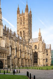 Catedral de Canterbury no por do sol do verão Canterbury, Kent, E Fotografia de Stock Royalty Free