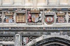 Catedral de Cantorbery de la entrada de la fachada, Kent, Inglaterra Fotos de archivo libres de regalías