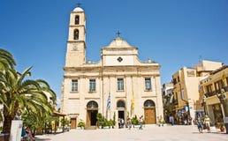 Catedral de Chania en primavera. fotos de archivo libres de regalías