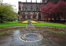 Catedral de Chester en resorte Imagenes de archivo