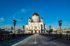 Catedral de Christ o salvador em Moscovo foto de stock royalty free