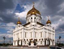 A catedral de Christ o salvador em Moscovo fotos de stock royalty free