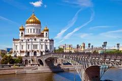 Catedral de Christ o salvador em Moscovo Foto de Stock