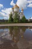 Catedral de Christ o salvador em Moscovo, Rússia Fotos de Stock