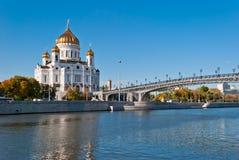 Catedral de Christ o salvador, Moscovo foto de stock royalty free