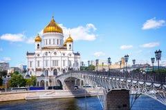 Catedral de Christ o salvador, Moscovo, Rússia imagem de stock
