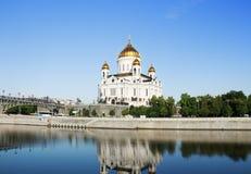 Catedral de Christ o salvador Rio de Moskva Moscovo, Rússia fotos de stock