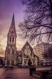 Catedral de Christchurch fotografía de archivo