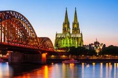 A catedral de Colónia em Alemanha fotografia de stock royalty free
