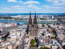 A catedral de Colónia em Alemanha imagens de stock
