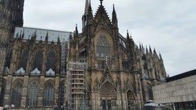 Catedral de Colonia bajo construcción Imagenes de archivo