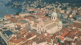Catedral de Como almacen de video