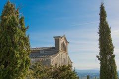 Catedral de Cortona Fotografía de archivo libre de regalías