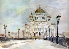 Catedral de Cristo el salvador stock de ilustración