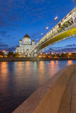 Catedral de Cristo el salvador en Moscú, Rusia Imagenes de archivo