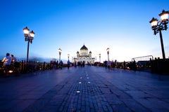 Catedral de Cristo a igreja na noite, Rússia do salvador - 01 Imagem de Stock