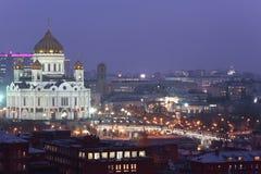 Catedral de Cristo o salvador em Moscou Fotos de Stock Royalty Free