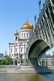Catedral de Cristo o salvador em Moscou, Rússia. imagem de stock