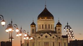 A catedral de Cristo o salvador em Moscovo Fotos de Stock