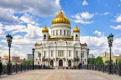Catedral de Cristo o salvador em Moscovo, Rússia Imagem de Stock Royalty Free