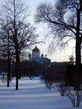 Catedral de Cristo o salvador de Moscou no inverno fotografia de stock