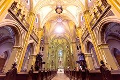 Catedral de Curitiba, el Brasil Imagenes de archivo