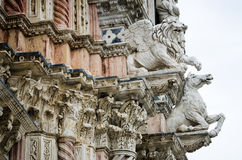 Catedral de detalhes de Siena Fotografia de Stock