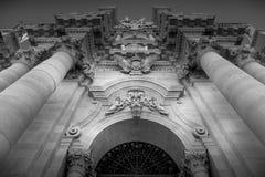 Catedral de Domo di Siracusa Siracusa Imagem de Stock Royalty Free