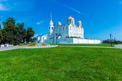 Catedral de Dormition (1160) em Vladimir, Rússia Foto de Stock