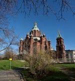 Catedral de Dormition en Helsinki Foto de archivo libre de regalías