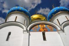 Catedral de Dormition en la trinidad Sergius Lavra Imagenes de archivo