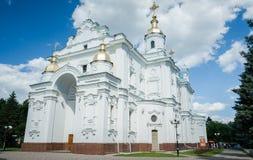 Catedral de Dormition en Poltava Imágenes de archivo libres de regalías