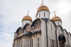 Catedral de Dormition no Kremlin de Moscou imagem de stock royalty free